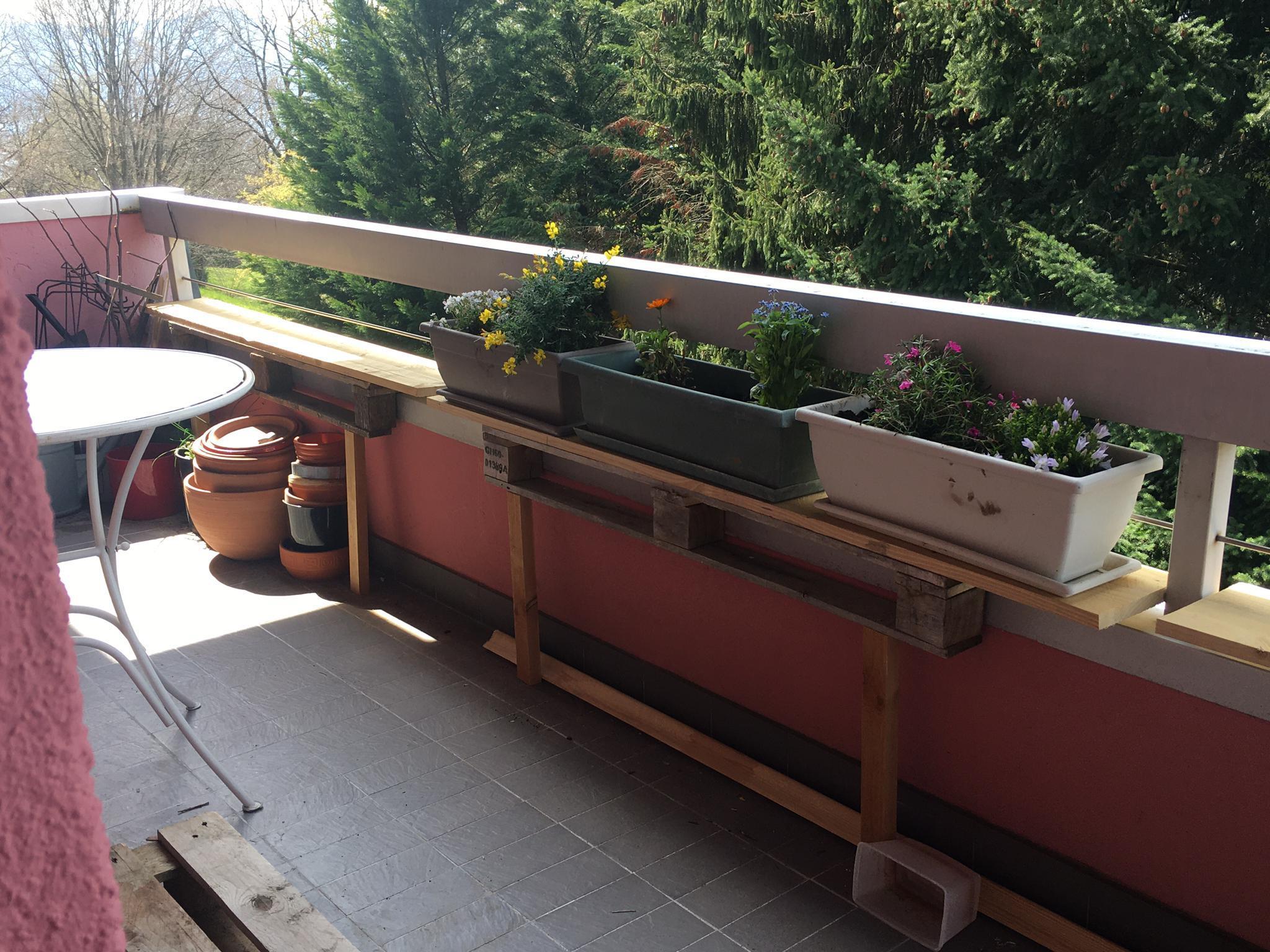 étagères balcon